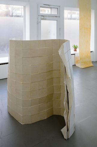 <i>Domestic Device, Untitled (300 tiles)</i> in foreground