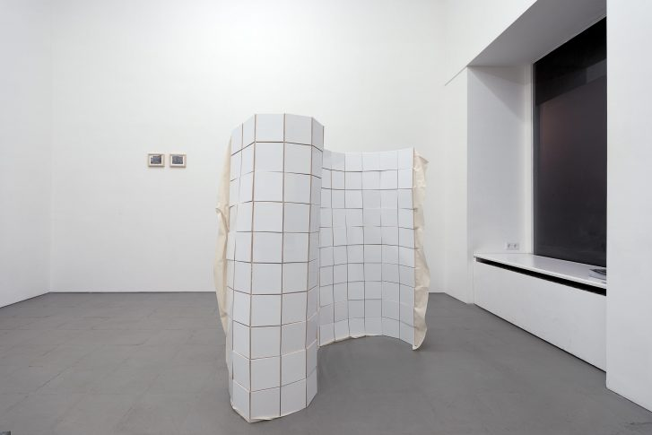 John Reardon, Action to produce a high degree of uncertainty; Bettina Buck, Untitled (300 tiles)
