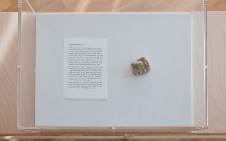 <em>Outside Corners (V/50)</em>, 2012, from V&A cycle, clay, partly glaced, 3,8 x 4,2 x 2,7cm