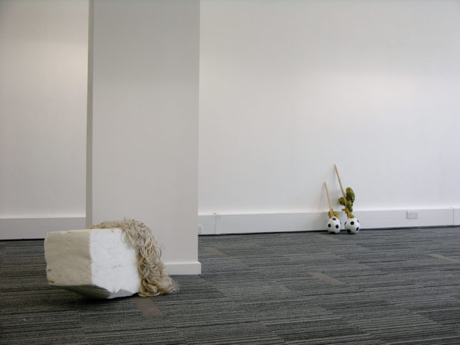 <i>Fallen</i> and <i>Phift</i><br>Installation view <i>Stuff,</i> curated by Laura White, London 2008