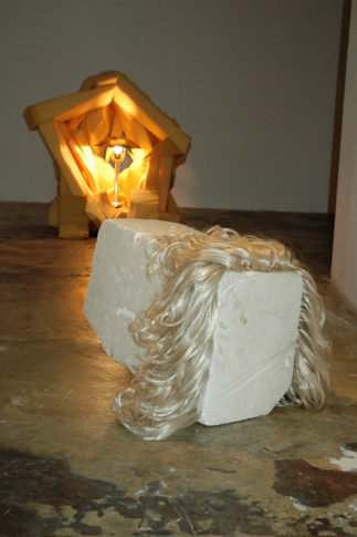 <i>Fallen</i> and <i>Grotto</i><br>Installation view <i>Flexing Brown,</i> ROKEBY Gallery, London 2008
