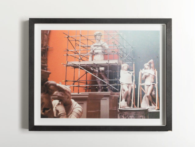 <i>V&A cycle (cast corners, David)</i><br>Image size: 32,8 x 24,5 cm<br>Frame Size: 36,8 x 29,0 cm