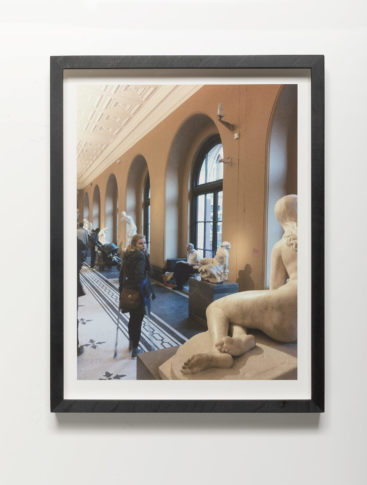<i>V&A cycle (figures in space)</i><br>Image size: 24,6 x 33,0 cm<br>Frame Size: 28,5 x 37,5 cm