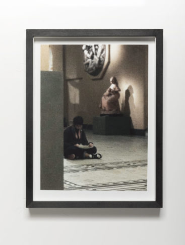 <i>V&A cycle (figures in space 2)</i><br>Image size: 23,8 x 32,2 cm<br>Frame Size: 27,8 x 36,7 cm