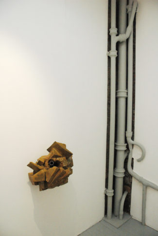<i>Wormhole</i><br>Installation view <i>Flexing Brown,</i> ROKEBY Gallery, London 2008