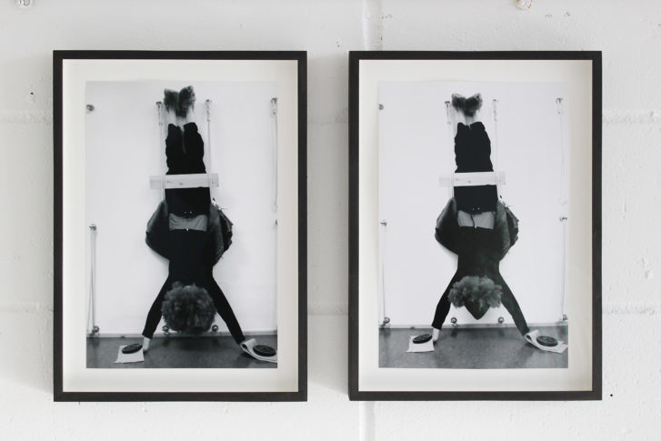 <i>Untidled (Diptych)</i>. 2013 Performance Photograph, 35 x 22 cm each